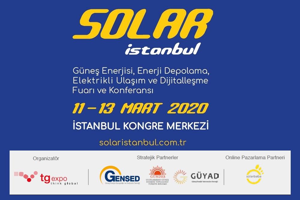 Solar İstanbul 2020 Fuar'ı 11-13 Mart 2020 Tarihlerinde İstanbul Kongre Merkezi'nde Gerçekleştirecek