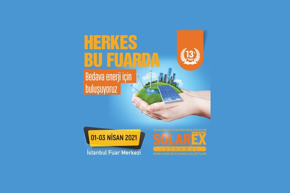 SOLAREX İstanbul 1-3 Nisan 2021 tarihlerinde düzenlenecek..